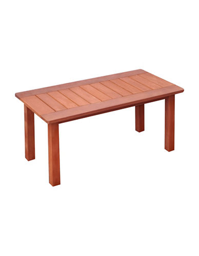 Corliving Miramar Outdoor Coffee Table-BROWN-One Size