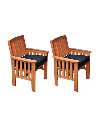 Corliving Miramar Outdoor Armchair Set-BROWN-One Size