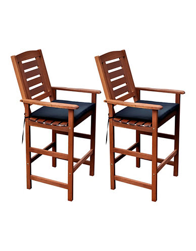 Corliving Miramar Outdoor Bar Height Chair Set
