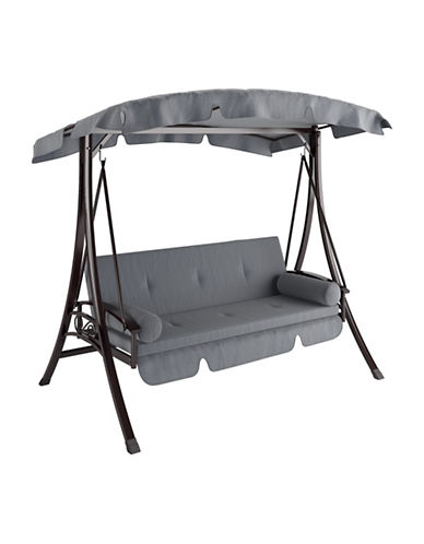 Corliving Nantucket Daybed Patio Swing-GREY-One Size