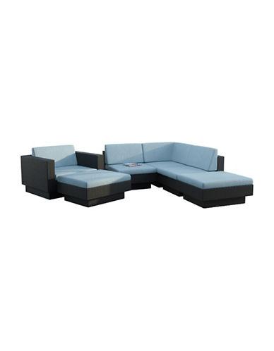 Corliving Park Terrace 6-Piece Sectional Patio Set-BLUE-One Size