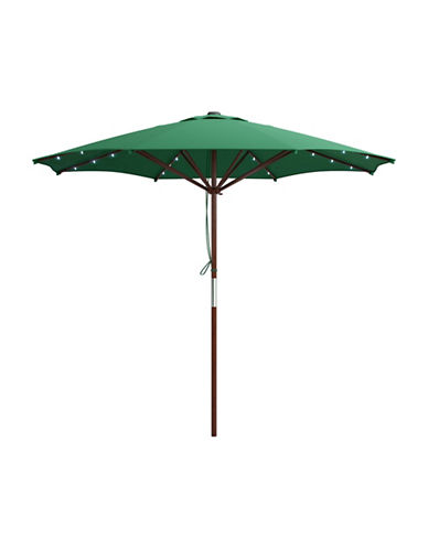 Corliving Solar Powered LED Lights Patio Umbrella-GREEN-One Size