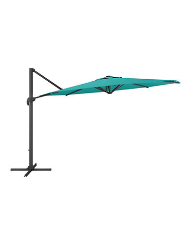 Corliving Deluxe Offset Patio Umbrella-BLUE-One Size