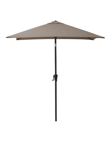 Corliving Square Patio Umbrella-GREY-One Size