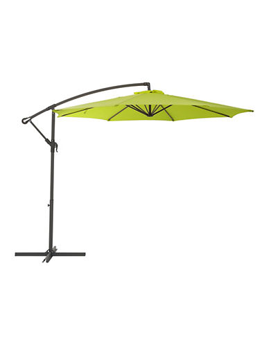 Corliving Offset Patio Umbrella-GREEN-One Size