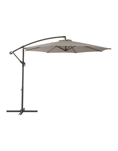 Corliving Offset Patio Umbrella-GREY-One Size