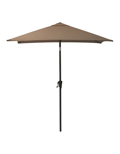 Corliving Square Patio Umbrella-BROWN-One Size
