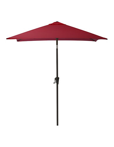 Corliving Square Patio Umbrella-RED-One Size