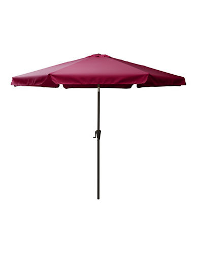 Corliving Tilting Patio Umbrella-RED-One Size
