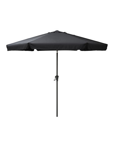 Corliving Tilting Patio Umbrella-BLACK-One Size