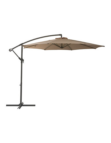 Corliving Offset Patio Umbrella-BROWN-One Size