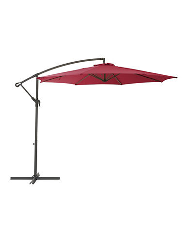 Corliving Offset Patio Umbrella-RED-One Size