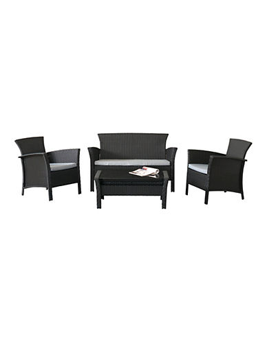 Corliving Creekside Four-Piece Patio Set-GREY-One Size