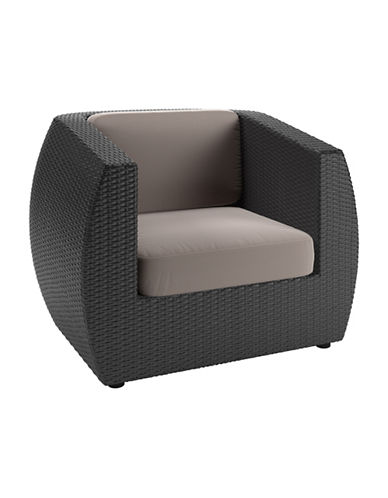 Corliving Textured Weave Patio Chair-GREY-One Size