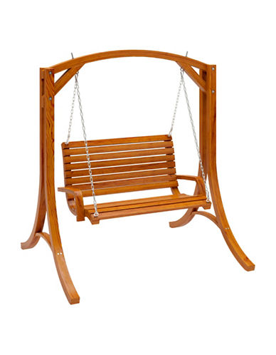 Corliving Wood Canyon Patio Swing-NATURAL-One Size