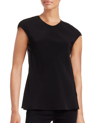 Judith & Charles Lucille Silk Blouse-BLACK-6
