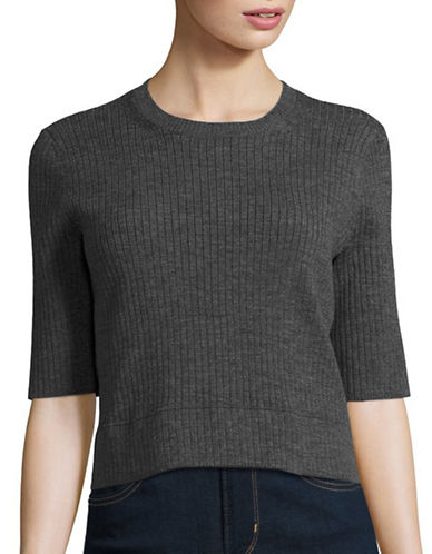 Judith & Charles Sonny Wool-Blend Sweater-GREY-Medium