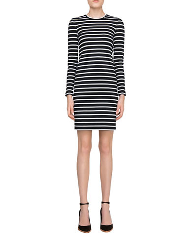 Judith & Charles Calder T-Shirt Dress-BLACK-4