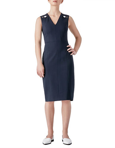 Judith & Charles Nadja Sheath Dress-BLUE-4