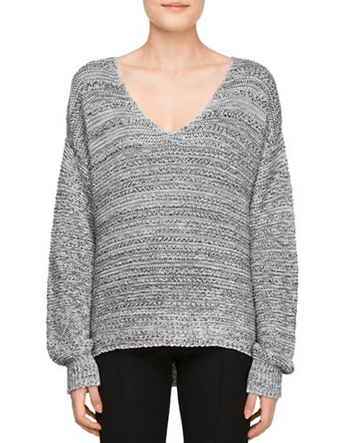 Judith & Charles Andrea Scoop Neck Sweater-GREY-Small