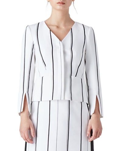 Judith & Charles Arezzo Striped Jacket-OFF WHITE-8
