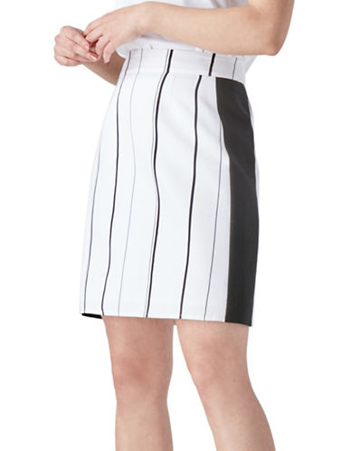 Judith & Charles Paola Striped Skirt-OFF WHITE-0