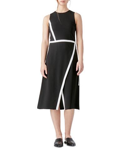 Judith & Charles Bruni Wrap Dress-BLACK-10