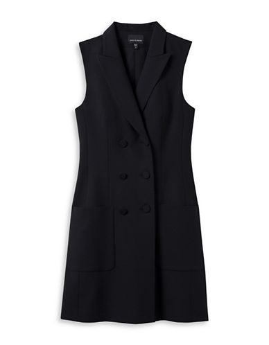 Judith & Charles Stretch Virgin Wool Suit Dress-BLACK-4