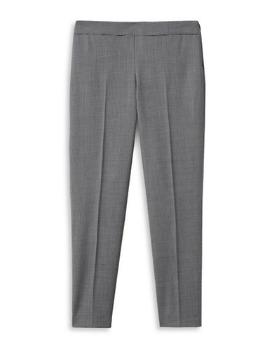 Judith & Charles Houndstooth Virgin Wool-Blend Trousers-BLACK-14