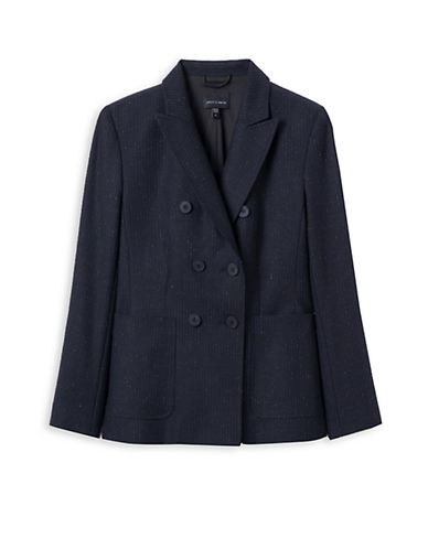 Judith & Charles Bristol Double-Breasted Wool-Blend Jacket-BLUE-14