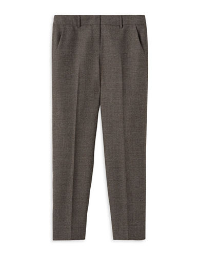 Judith & Charles Liam B Wool Pants-BROWN-0