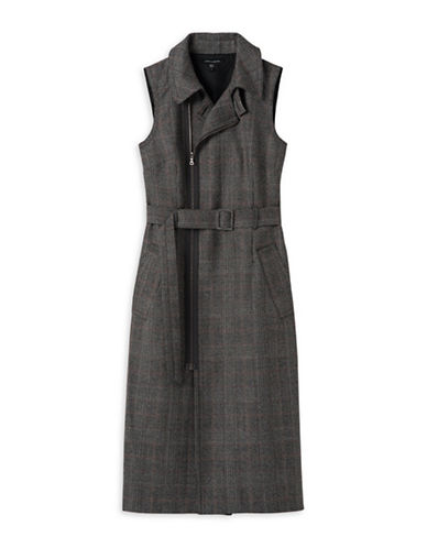 Judith & Charles Sleeveless Shirt Dress-GREY-2