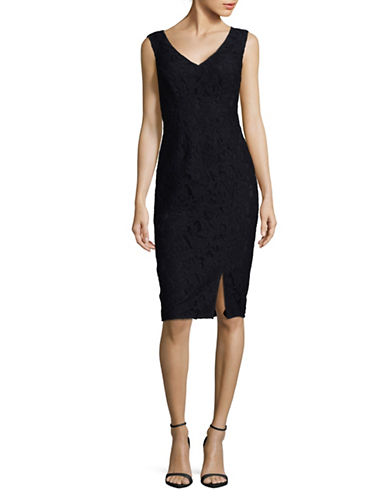 Judith & Charles Lola Lace Sheath Dress-BLUE-0