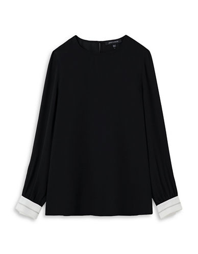 Judith & Charles Harrison Silk Blouse-BLACK-2