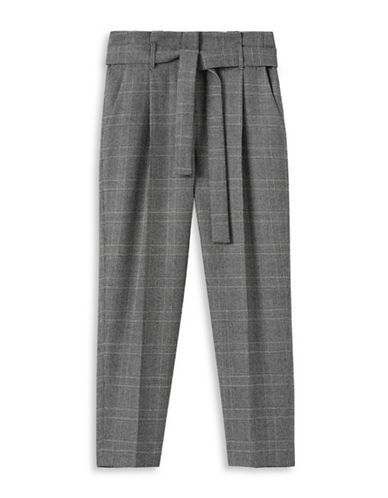 Judith & Charles Wool Houndstooth Cropped Trousers-BLACK/WHITE-0