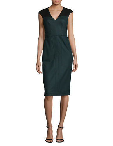 Judith & Charles Atlas Sheath Dress-GREEN-8