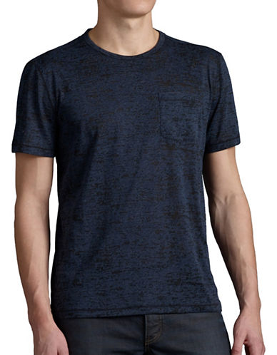 John Varvatos Star U.S.A. Burnout Crew Neck Tee-BLUE-Medium