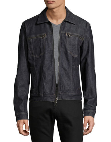 John Varvatos Star U.S.A. Zip Front Denim Jacket-INDIGO-X-Large