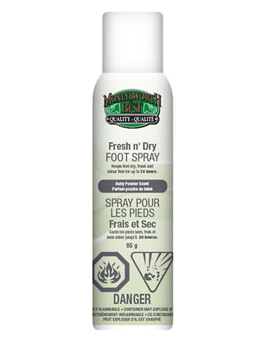 Moneysworth And Best Fresh n Dry Foot Spray-CLEAR-One Size