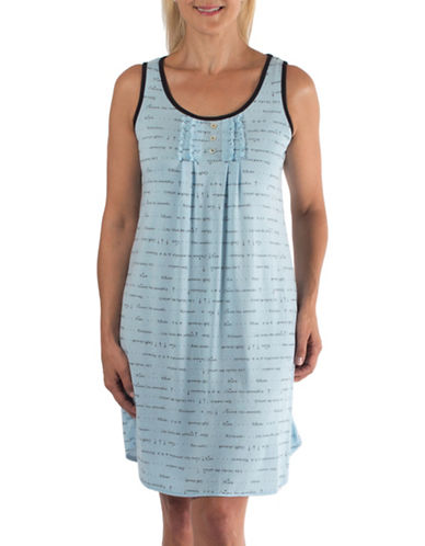 Claudel Printed Nightgown-BLUE-X-Small