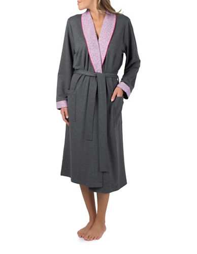 Claudel Long Printed-Collar Robe-ORCHID-Small 89056813_ORCHID_Small