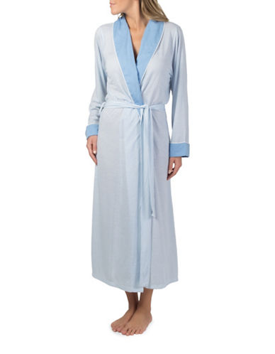 Claudel Striped Long Robe-BLUE-Small 89124230_BLUE_Small