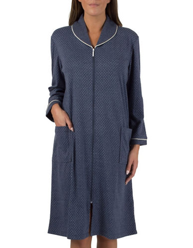 Claudel Zip-Front Robe-BLUE-Medium