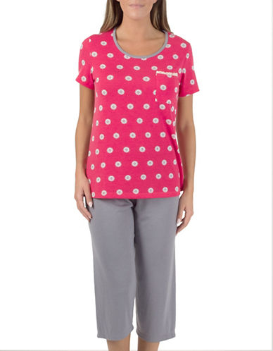 Claudel Dotted Sleep Tee-CORAL-Large