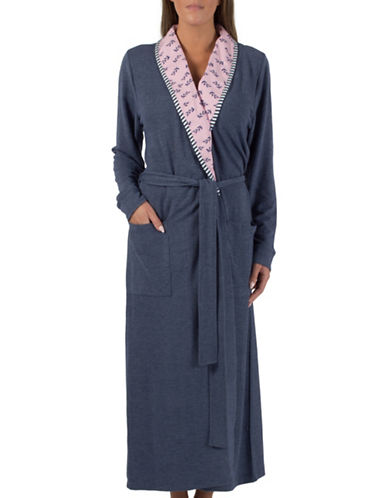 Claudel Long Sleeve Robe-BLUE-Small