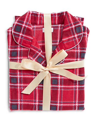 Claudel Plaid Pajama Set-RED-Medium