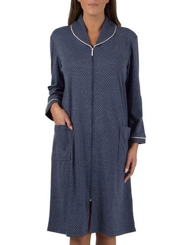 Claudel Plus Zip-Front Robe-BLUE-2X