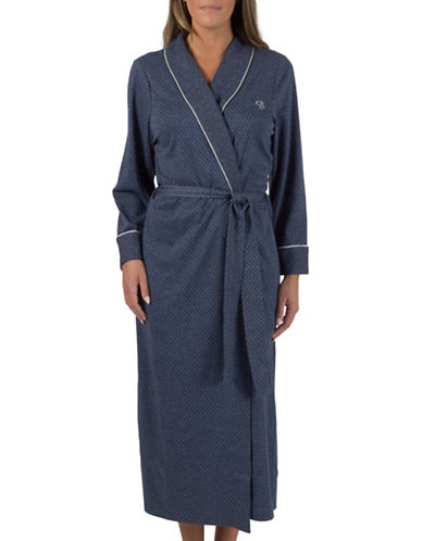 Claudel Plus Belted Robe-BLUE-1X