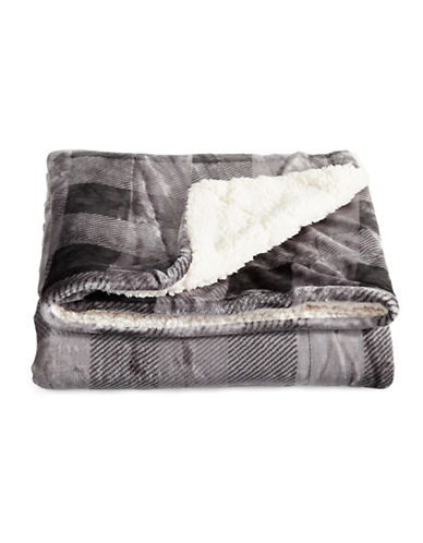 Distinctly Home Printed Velvet Touch Throw-GREY-One Size