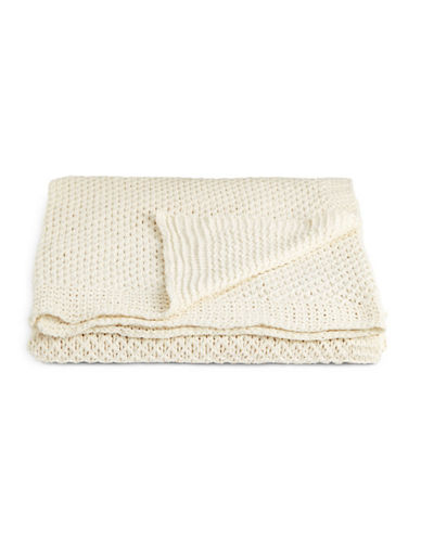 Distinctly Home Chenille Cable Knit Throw-IVORY-One Size
